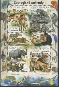Czech Republic 2016 Animals, Wild Cats, Fauna, Zoo, Lions, Monkeys MNH**
