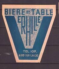 Ancienne étiquette Bière Alcool France Brasserie Erhille 1