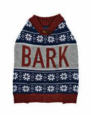 CUTE Knit Nordic 'BARK' Dog Sweater (Size Medium) BRAND NEW W TAGS