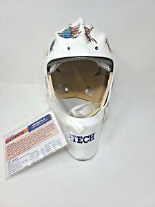 Vintage ITech Goalie Mask Sr Profile Official Goaltender Mask XIS34-0698 No Cage