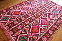 135 x 200 Oriental Rug, Kelim , Carpet from Damaskunst S 1-4-45