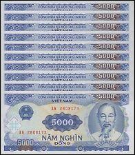 Vietnam (Viet Nam) 5,000 Dong X 10 Pieces (PCS), 1991(1993), P-108, UNC, VND