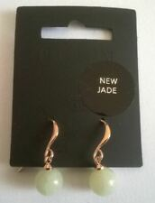 Pilgrim Drop Earrings Rose Gold Plated Jade 181914403