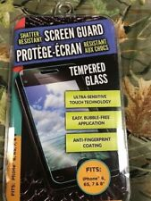 Shatter Resistant Screen Guard Tempered Glass For Samsung I-phone 6,6S,7 & 8