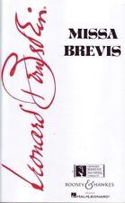 Bernstein MISSA BREVIS VOCAL SCORE