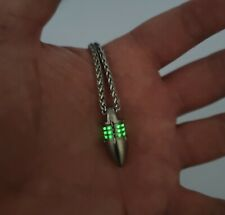 Titanium Tritium Six Slot Pendant Necklace Fob GLOW 25+ year