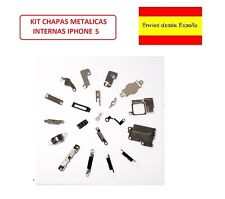 KIT JUEGO CHAPAS METALICAS INTERNAS PARA IPHONE 5 5G