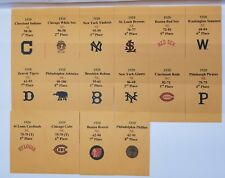 1920 Strat-O-Matic Baseball Printed Storage Envelopes with Stats and Team Logo.