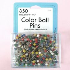 """Collins Fine, Sharp 1-1/4"""", Size 20, Color Ball Head Pins - 350 Pack"""