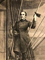 Admiral David Farragut Union Commander Civil War 1868 Civil War era print