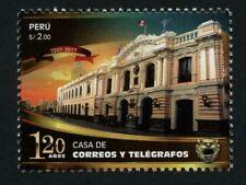 Peru 2017 Post- und Telegrafenamt Architektur Flagge Architecture Postfrisch MNH