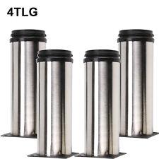 4x EDELSTAHL Premium Tischbeine Tischfüße Schreibtisch Stahl Metall verstellbar