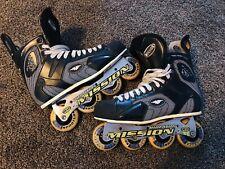 Mission violator proto SV 4.3 HI LO 80/72 Roller hockey inline skates US Men 11D