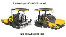 2 atlas copco dynapac sd2500 WS/CS strassendeckenfertiger NZG 898 + 899 1:50