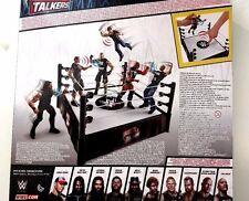 Wwe-Mattel-Tough Talkers Interactivo Lucha Libre Ring Play Set-Nuevo