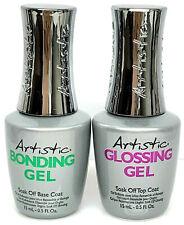 Artistic Soak-Off Gel - Bonding Gel (Base) + Glossing Gel (Top) - NEW PACKAGING