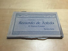 25 Tarjetas Postales RECUERDO DE TOLEDO - Carnet Postal - Tercera Serie