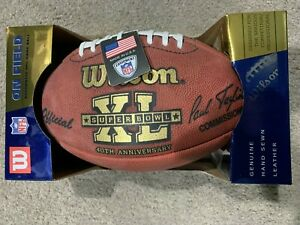 SUPER BOWL XL 40 Authentic Wilson NFL Game Football **SEAHAWKS VS STEELERS**