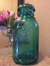 "VTG BALL Ideal Bicentennial Blue Aqua 10"" Canning Jar EAGLE Glass Lid 1776-1976"