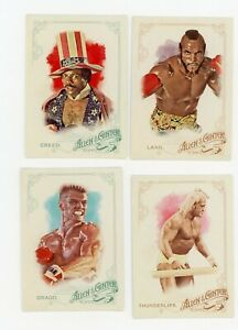 ALLEN & GINTER 2015 ROCKY 4 CARD LOT THUNDERLIPS DRAGO CREED CLUBBER LANG