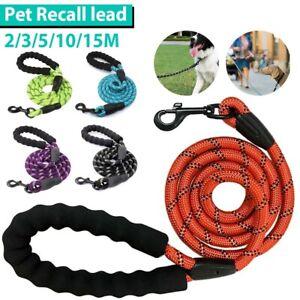 2/15M Long Nylon Training Dog Puppy Leash Heavy Duty Pet Strong Rope Recall Lead