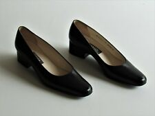 BALLY New Black Leather Classic Low Heel Pumps Made In Switzerland 7 US EU 4.5