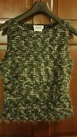 A Byer Black Sleeveless Blouse Shirt Casual Career Women's Size Large