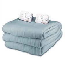 Soft Microplush King Size Electric Heated Blanket by Biddeford (Azure)