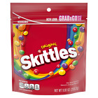 Skittles 5 Flavors Original Fruity Candy 9 oz Resealable Grab n Go Size Bag