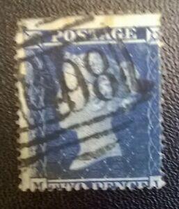 GB SC 19 * SG 36a QV WMK 20 * Lge Crown  * Perf 16 * White Paper 2d Blue Lot