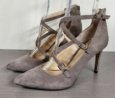 Vince Camuto Neddy Pointy Toe Pump, Brown Suede, Womens Size 7.5 / 37.5