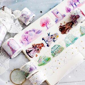 5M/Roll unicorn Fantasy wonderland Bronzing Washi Tape scrapbooking masking tape