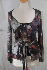 CREATIVE BY -  Top Blouse Squat noir imprimé  Taille 42 neuf