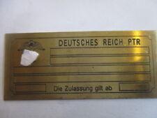 Schild JMO Looping Deutsches Reich PTR Flipper pinball Spiel Automat S35