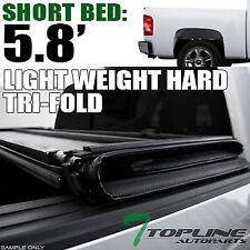 "TRI-FOLD HARD TONNEAU COVER LW 2007-2014 CHEVY SILVERADO TRUCK 5.8/68"" SHORT BED"