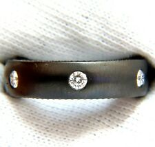 .65CT DIAMOND ETERNITY RING BRUSHED BLACKENED SILVER G/VS+