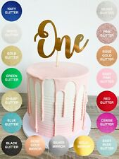 Number One Cake Topper. Number 1 Cake Smash Topper - 10 Colours to choose