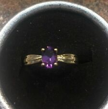 10k Gold Amethyst Ring Size 7.5