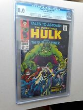 Tales To Astonish # 101 CGC 8.0 The Incredible Hulk & Sub-Mariner 1968