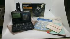 Sharp Wizard 32Kb Oz 7600 Organizer New Batteries Works With Box and Manual Nice