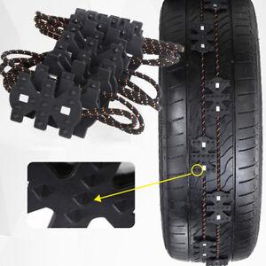 4x Universal Truck Car SUV Winter Ice Snow Tire Chain Band Loop 165mm-285mm DIY