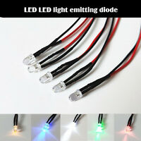 5Pcs LED 5mm Lamp Emitting Diode 3V Light Bulb Line Super Bright Cable Wire