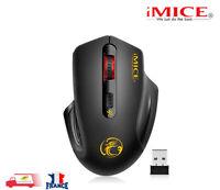 Mouse Souris Sans Fil Optique 2,4 Ghz 2000 DPI réglable USB 3.0 Noir silencieuse