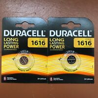 2 x Duracell CR1616 3V Lithium Coin Cell Battery DL1616 1616 LONGEST EXPIRY DATE