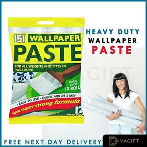 All-Purpose Extra Strong Wallpaper Paste Adhesive -Hangs up to 10 Rolls