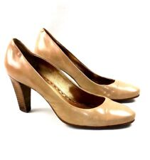 "COACH Sz 7.5 Tan Leather Women's  Heels 3"" Pumps Shoes Classic"