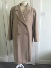 St Michael ( M&S) size 16  Camel Wool/Cashmere Double Breasted Coat