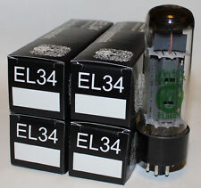 Matched Quad Electro Harmonix EL34 tubes, Brand NEW