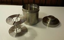 Vintage Nikor Stainless Steel Film Developing Tank w/ Adjustable 35mm 120mm Reel