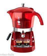 Mokona Bialetti macchina caffe espresso 20 bar rossa trasparente coffe - Rotex